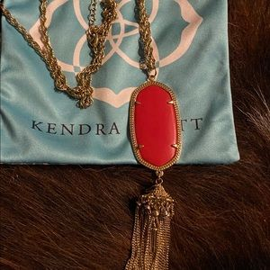 Kendra Scott Rayne Necklace In Bright Red